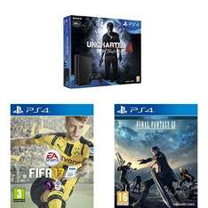 Sony PlayStation 4 500GB Uncharted 4 Bundle + FIFA 17 + Final Fantasy XV: Day One Edition (PS4) £219.99 @ Amazon