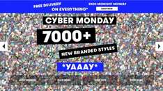 TK MAXX Cyber Monday promotion with free delivery on everything