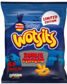 Walkers Wotsits Zombie Fingers Flaminhot 6x17.5G 2 for £1 @ Heron