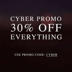 ALLSAINTS Cyber Monday 30% off all items online and in-store