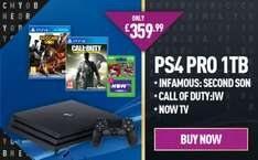 (Cyber Monday) PlayStation 4 Pro with Call Of Duty Infinite Warfare, inFAMOUS: Second Son and NOW TV 2 Month Sky Cinema Pass £359.99 GAME