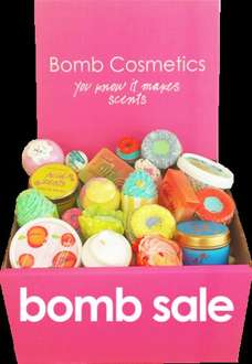 £50 worth of product for £30 and free delivery bomb cosmetics