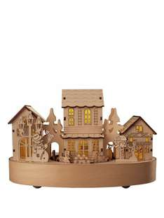 Lit Wooden Christmas Houses with Movement £13.49 @ very  free c&c