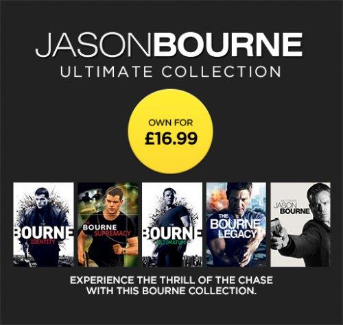 Jason Bourne Ultimate Collection HD £16.99 @ Wuaki TV
