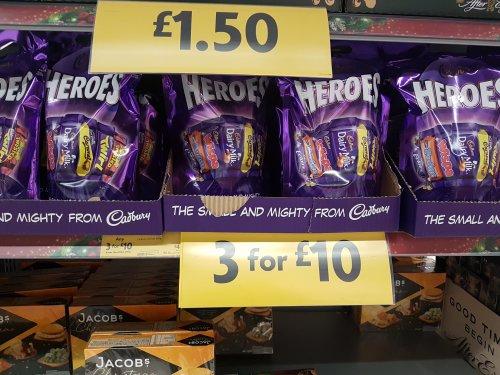 Cadbury Heroes 3 500g bags for £10 - Instore @ Morrisons