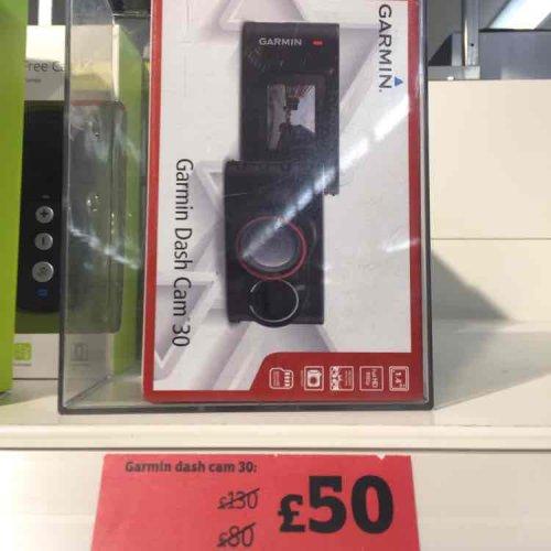 Garmin Dash Cam 30 £50 @ Sainsbury's