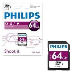 Philips 64GB SDXC SD Memory Card CLASS 10 40MB/s - £12.89 at 7DayShop