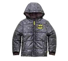 Batman Charcoal Puffer Coat - reduced to £10.99 at Argos