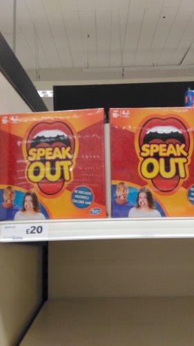Speak Out game  £20 instore @ Sainburys Oldbury