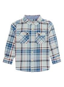 Boys Multicoloured Long Sleeve Check Shirt (10-12y) was £10 now £3.75 (Free C+C wys £15 or £3.95 Del) @ tu clothing