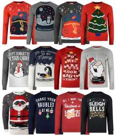 Christmas Jumpers (All Sizes) £11.99 Delivered @ JeansSceneOnline via eBay