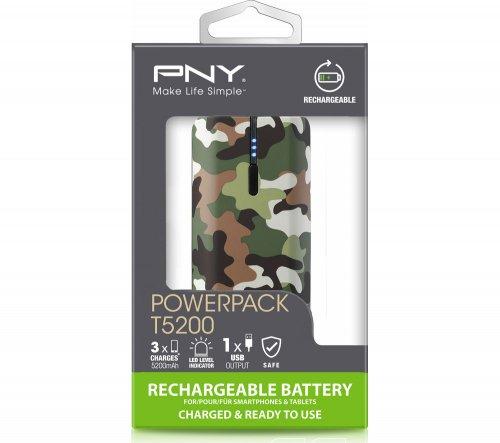 PNY Curve 5200 Portable Power Bank - Camo £4.97 @ PCWorld