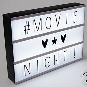 Cinema LED Lightbox £7.99 delivered at Home Bargains