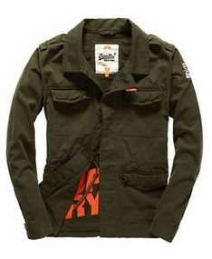 Superdry Rookie Military Blazer Dark Khaki £35.99 Superdry on ebay
