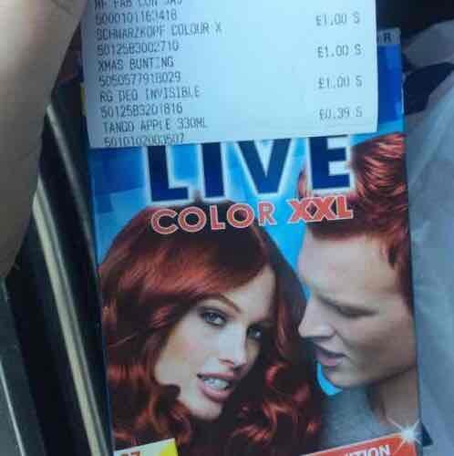 Poundworld - Schwarzkopf Live Colour XXL hair dye £1.00