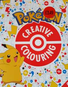 pokemon creative colouring book £3.49 Sainsbury in store
