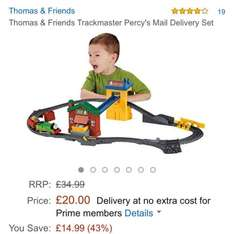 Thomas and friends Trackmaster Percy's mail delivery set @ £20 on Amazon with free delivery
