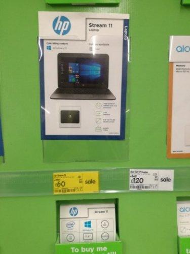 HP Stream 11 Intel Celeron 2GB Ram £60 instore @AsdaReduced from £179