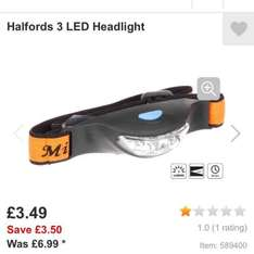 led head torch £2.79 @ Halfords