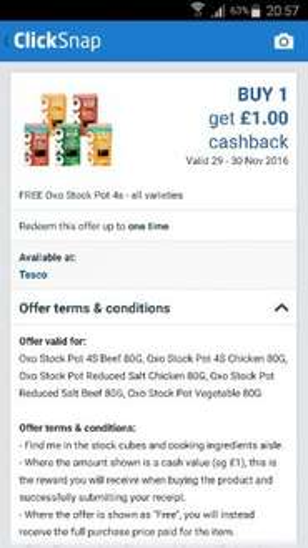 free oxo stock pot 4's all varieties (£1) via click snap @ Tesco