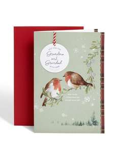 Grandma & granddad Robins Christmas Card £1.75 @ m&s