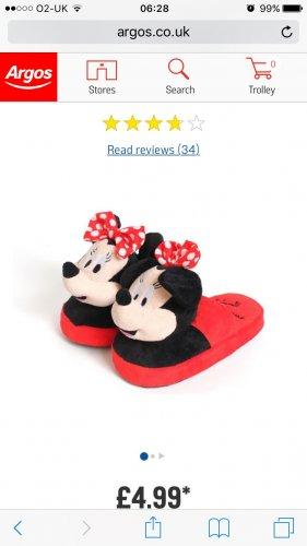 Minnie Mouse stompeez £4.99 at argos