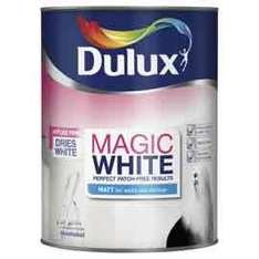 magic white Dulux paint 5l for £23 at Tesco direct