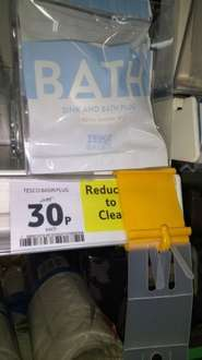 Put a plug in it!! tesco basics bath and sink plugs only 30p instore @ tesco