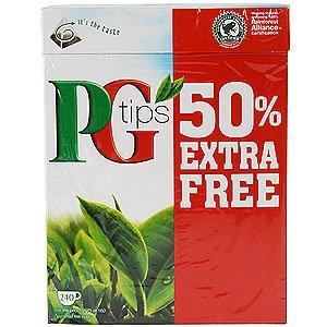 pg tips £3.49 for 240 teabags @ home bargains
