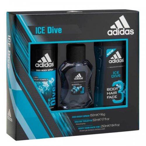 Adidas Ice Dive Trio Body Spray, Shower Gel & EDT Set Superdrug  Was £8 now £3.50
