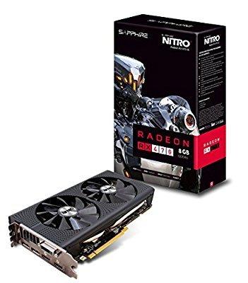 Sapphire AMD RX470 Nitro+ 8 GB GDDR5 Memory Polaris FinFET DX 12 Vulkan FreeSync PCI-Express Graphics Card £199.99 @ Amazon