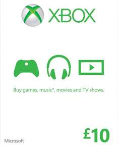 Xbox live £10 card for £4.97 (+£2 del) @ gamestop
