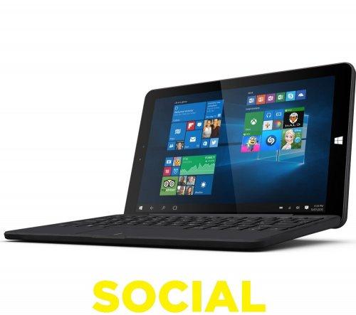 "LINX 1010B 10.1"" Tablet & Keyboard - 32 GB, Black @ Currys - £119.99"