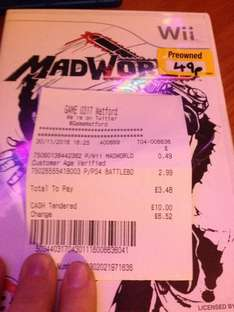 Madworld WII Pre-owned for 49p Instore @ GAME
