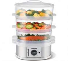 Morphy Richards 3 Tier Steamer 1/2 PRICE £24.99 WAS £49.99 ARGOS (FREE C+C)