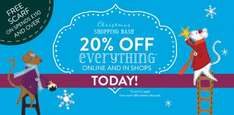 20% off everything at white stuff today only