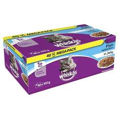 Whiskas 1yr+ Wet Food 40 Pack - £6 @ Amazon (Prime Exclusive)