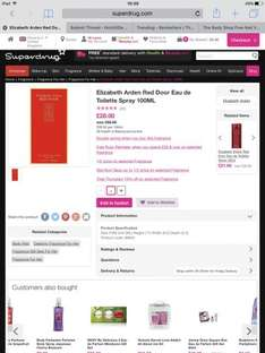 Elizabeth Arden Red Door Eau de toilette 100ml Spray (RRP £56) Now £25.20 at Superdrug