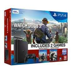 PlayStation 4 500GB Console with Watch Dogs 2 and Watch Dogs - £199.99 - Game (100 Available)