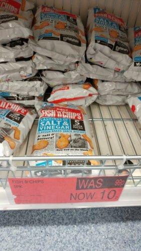 Burton's Fish n Chips Lashings of Salt & Vinegar 5 pk 10p at B & M Norwich Riverside!