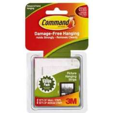 Command Picture Hanging  strips certain items 3 for 2 £13.97 Amazon