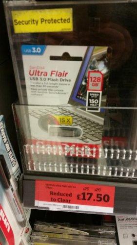 Sandisk Ultra Flair USB 3.0 128gb Flash Drive £17.50 Sainsbury's instore