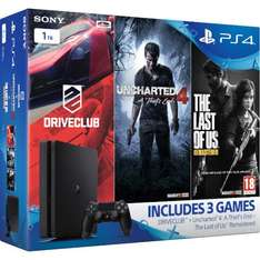 PLAYSTATION 4 Slim with Uncharted 4, DRIVECLUB & The Last of Us: Remastered - 1 TB £239.99 @ Zavvi