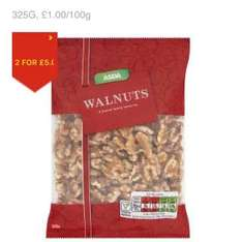 Asda Walnuts 325g 2 for £5 (each £3.25)