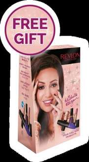 free Revlon gift worth £34 when you spend £15 on Revlon products at boots and 10% cashback