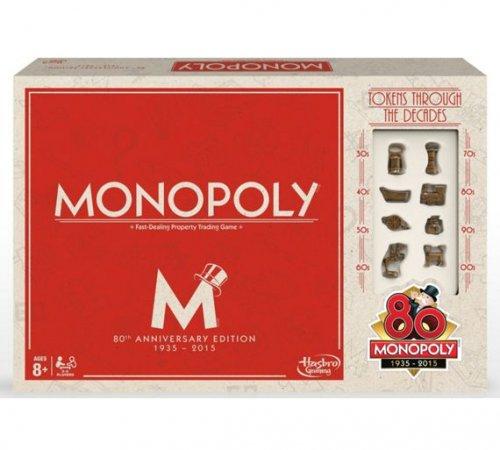 Monopoly 80th Anniversary Edition £12.49 @ argos (Free C&C)