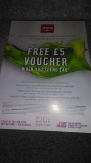 Free £5 voucher when you spend £40 at various argos stores