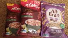 Kellogg's Ancient Legends cereal 320g & Kellogg's All Bran Muesli 550g any 3 for £1 or 39p sold individually in-store @ Herons Gateshead short date.