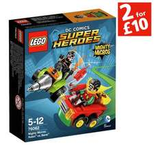 Lego Super Heroes Mighty Micros 2 for £10, instore and online @ Sainsburys