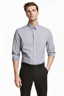 Mens easy iron shirts @H&M (free delivery with code 6014)